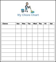 Free homeschool schedule blank 5 day schedule template by for Allowance chart template