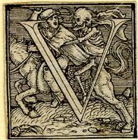 Holbein Alphabet 1526: Initial V