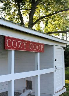 The Cozy Coop - one day I'm going to have a coop  like this one...