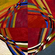 Curvilinear Rhythm 3 ____________________ x Private collection, Lancaster, PA. Juried into International Quiltfest in Houston, and Crafts National in the Lancaster, Pennsylvania Museum of Art. Textile Fiber Art, Textile Artists, Circle Quilts, Quilt Blocks, Quilting Projects, Quilting Designs, String Quilts, Contemporary Quilts, Quilted Wall Hangings
