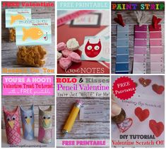 DIY Valentines - Hooked On You, Just Write for Me, You're a Hoot and more. FREE Valentines Printables on Frugal Coupon Living.