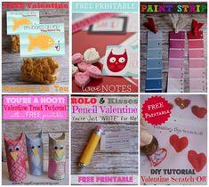 DIY Valentines - Easy Homemade Valentines for your Kids! Craft Valentines. Kids Valentines. FREE Printables