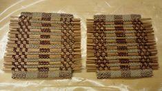 Pannunalusia. Koulussa myynnissä. Matskua pajua + jokaisessa juuttia. Kudottu kangaspuilla.