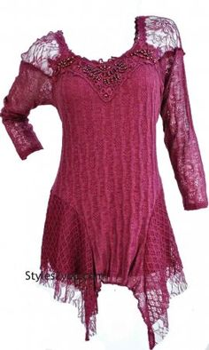 Lana Victorian Blouse PLUS SIZE In Burgundy