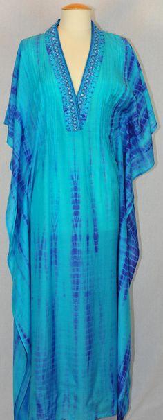 Caftan blue tie dye #caftan