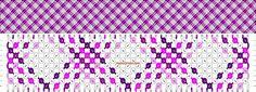 Normal Friendship Bracelet Pattern #10198 - BraceletBook.com