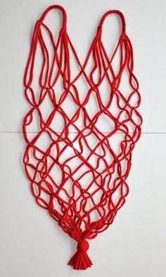 Boodschappen-net van zpagetti   draadenpapier   Gratis patroon #knopen #zpagetti #macrame