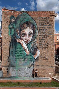 HERAKUT .. for Street Heart .. [Rome, Italy 2015] (2)