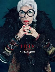 Iris Apfel testimonial for Mac Cosmetics