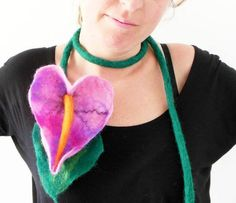 Locally made felt flowers, bring a pop of color to your outfit!