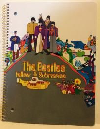 $2.50 The Beatles Yellow Submarine 80 Sheet Spiral Notebook