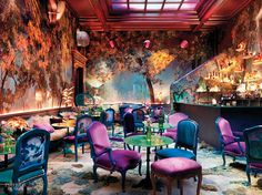 The Glade in London. Photography by Simon Brown. The Glade, a London restaurant, has just reopened after a renovation to make the intimate 32-seat space appear like a picni...