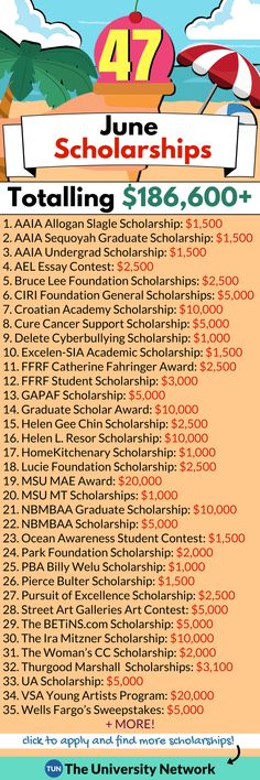Here is a selected list of June 2018 Scholarships. Here is a selected list of June 2018 Scholarships. Grants For College, College Planning, Education College, College Tips, Financial Planning, College Club, College Checklist, College Dorms, Primary Education