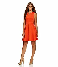 Gibson and Latimer FitandFlare Dress #Dillards