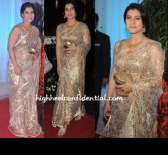 kajol-esha-deol-wedding-reception so elegant esp the sari