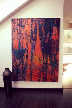 120 cm x 100 cm Öl, Acryl Eisen abstract