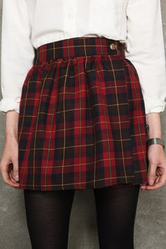 Vintage Renewal Plaid Skirt £35