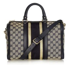 3acb0cb7a7e4c This is definitely an eye catcher!! -Gucci Striped Boston Bag