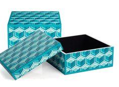 Geo Honeycomb Box - Aquamarine | Desk-organization | Accessories | Z Gallerie