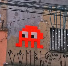 Space invader - Urban art - São Paulo