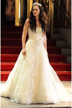 Vera Wang on Blair Waldorf for her princess wedding