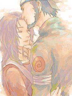 Asuma and Kurenai. This made me cry so much! Asuma-sensei!!!!!!