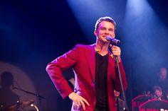 B Side Band 14.10.2014 Red Leather, Leather Jacket, Celebrity, Band, Jackets, Fashion, Studded Leather Jacket, Down Jackets, Moda