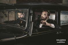 Beautiful Men suit upp/ get a haircut / Beardtrim / Moustache / Volvo