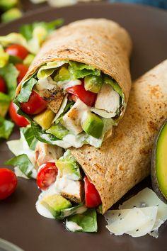 Chicken Avocado Caesar Salad WrapReally nice recipes. Every  Mein Blog: Alles rund um die Themen Genuss & Geschmack  Kochen Backen Braten Vorspeisen Hauptgerichte und Desserts