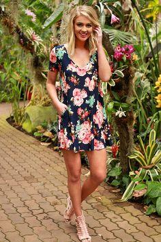 The Emma Shift Dress In Sunseeker Floral