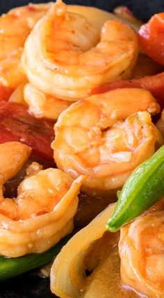 shrimp stir fry on noodle pillows shrimp and asparagus stir fry ...