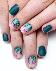 Fall Leaf Nail Art Designs - Fall leaves on nails right now are super-trendy. We searching for 60 best examples. Be ready to get inspiration! Long Gel Nails, Nail Effects, Painted Nail Art, Hot Nails, Beautiful Nail Designs, Gel Nail Designs, Artificial Nails, Hand Painting Art, Creative Nails