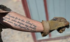 Praise be to the Lord my rock, who trains my hands for war and my fingers for battle Psalm 144:1