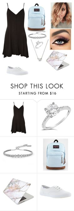 """""""First day of school Outfit"""" by neongirlz5 on Polyvore featuring Topshop, Sterling Forever, CARAT* London, JanSport, Recover and Keds"""
