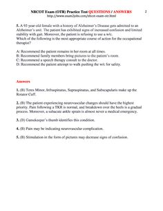 NBCOT Exam (OTR) Practice Test QUESTIONS / ANSWERS page 2