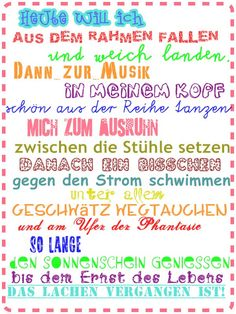 LeNi Farbenfroh: ♥ TaGeSpLaN ♥ ;-) The Words, Motto, Cool Boy Names, German Quotes, Something To Remember, Image Fun, Lettering Design, Inspirational Quotes, Wisdom
