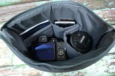 Zip top Camera insert in Grey   Zipper close Secure your camera equipment for…
