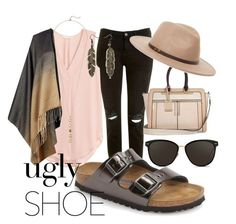"""Ugly Shoes"" by littlequietcanadian ❤ liked on Polyvore featuring Topshop, Birkenstock, Hobbs, Cole Haan, River Island, Linda Farrow, Ace of Something, contestentry and uglyshoes"