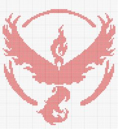 Pokemon Go Team Valor / Valour Cross stitch pattern 87x 89 stitches