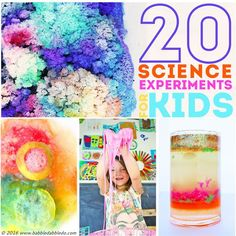 20 Science Experiments for Kids. Many of these would be perfect for the science fair!