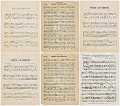 Printable Christmas Sheet Music sized to turn into Christmas Ornaments  ~~~via Knick of Time
