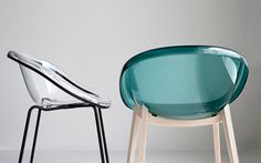 Chaise en métal et en polycarbonate. BLOOM. Calligaris CS/1390