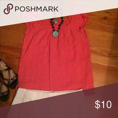Beautiful top Beautiful color for the nice weather . Ann Taylor loft Tops