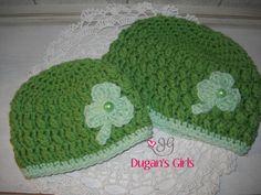 Crochet by Dugan's Girls  {Shamrock Beanie}