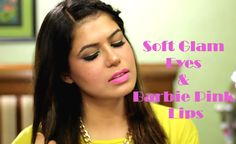 Soft Glam Eyes with a Pop of Color with Barbie Pink Lips - Makeup Tutorial up on my Youtube Channel and blog!