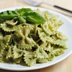 Basil Cilantro Pesto Pasta Recipe - Vegan Family Recipes