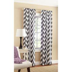 Mainstays Graphic Chevron Panel, Set of 2.. Thinking about these for the living room or bedroom :D