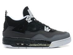 "Air Jordan 4/IV Retro 2013 - ""Stealth/Oreo"" - Fear Pack Air jordan 4 GS Date de Sortie: 07.2013 Stealth/Noir - Blanc, Style - Couleur # 4084..."