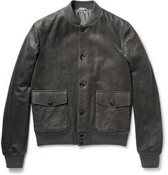 BoglioliWashed-Leather Bomber Jacket