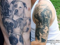 Tattoos that are Portraits of Your Dog by Robert Pho at Skin Design Tattoo